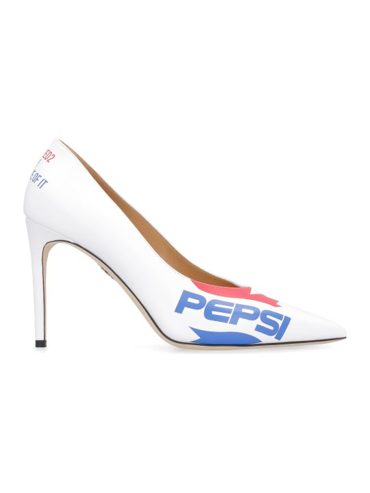Dsquared2 Leather Pumps - Dsquared2 X Pepsi