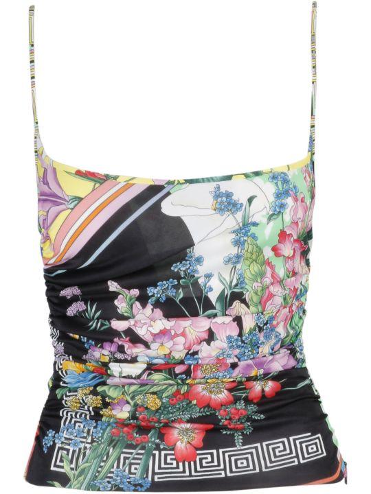 Versace Floral Print Top
