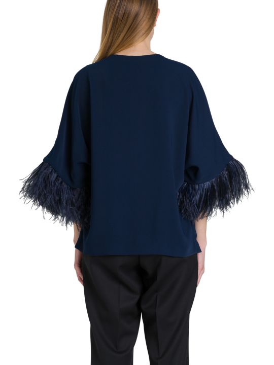 Parosh Jacket With Marabou Feathers