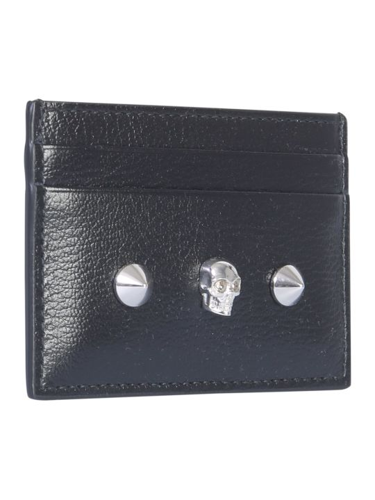 Alexander McQueen Card Holder With Skull