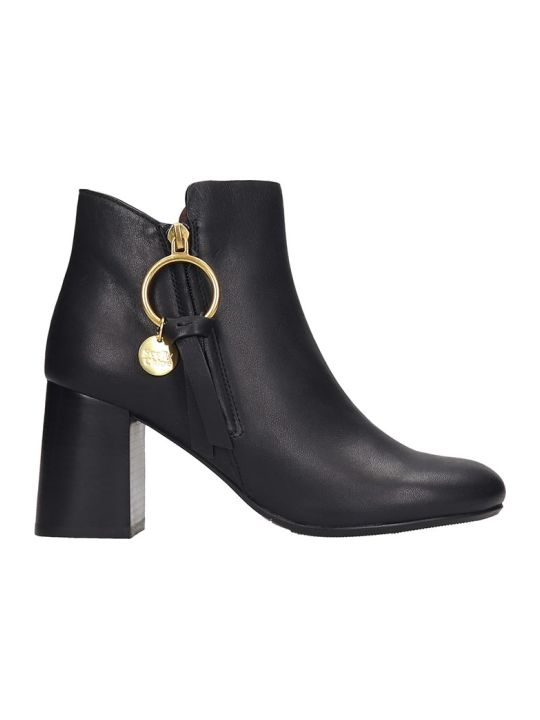 See by Chloé Ankle Boots In Black Leather