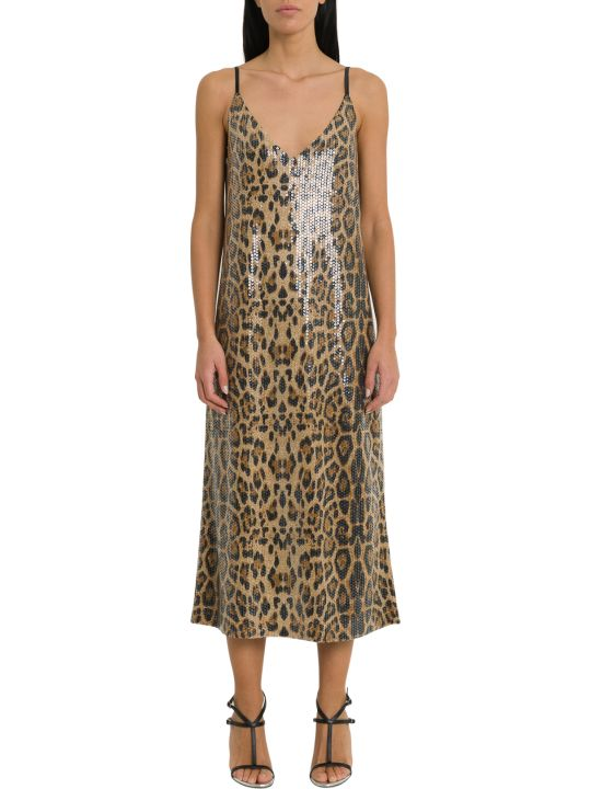 In The Mood For Love Rihanna Sequines Leopard Dress