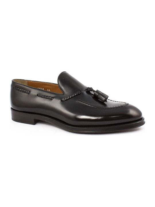 Doucal's Ebony Leather Loafer