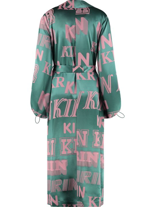 Kirin Jacquard Satin Wrap-dress