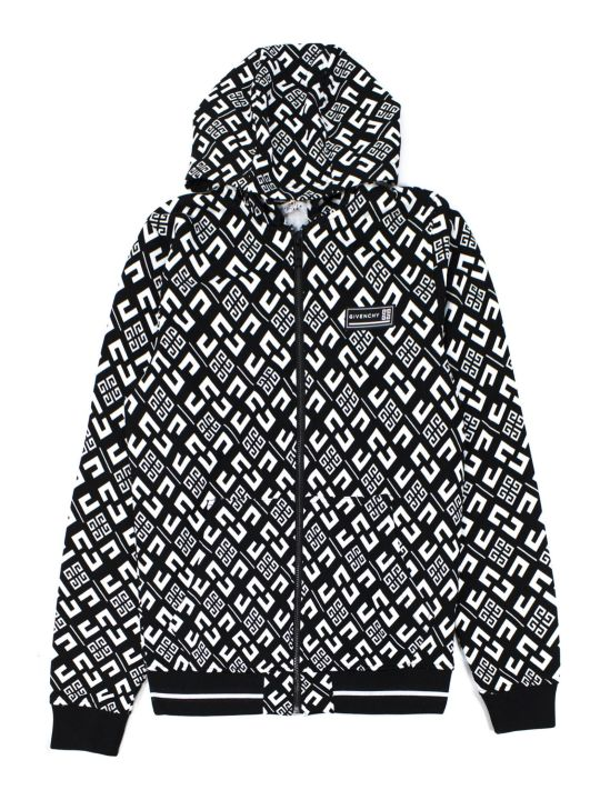 Givenchy Black Cotton Blend Hoodie