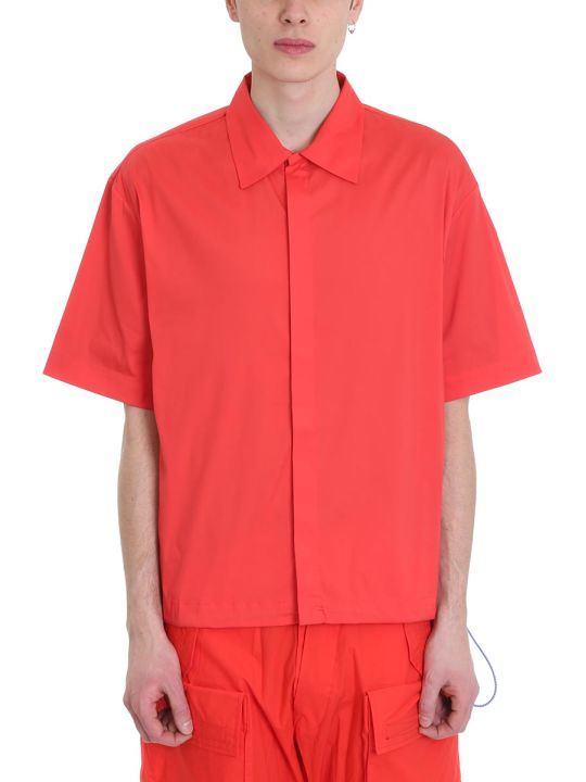 Ben Taverniti Unravel Project Red Cotton Shirt