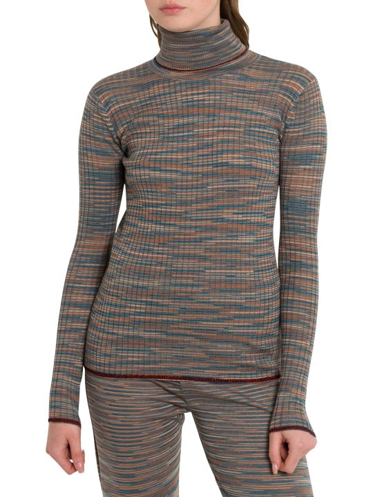 M Missoni Slub Fabric Turtleneck With Lurex Details