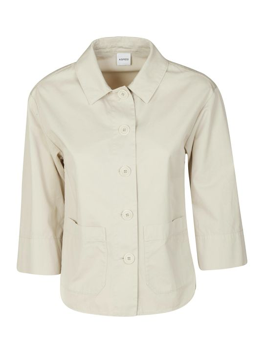 Aspesi Side Pocket Buttoned Jacket