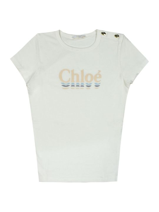 Chloé White Cotton T-shirt