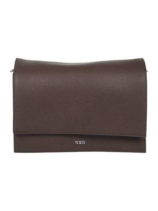 Tod's Logo Detail Detachable Strap Shoulder Bag
