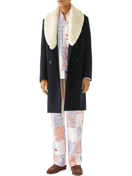 Loewe Shearling Collar Coat