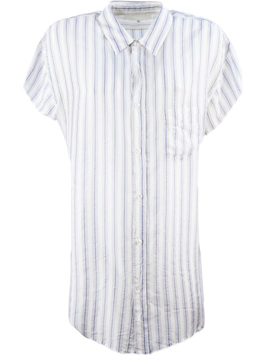 Maison Margiela White And Blue Shirt
