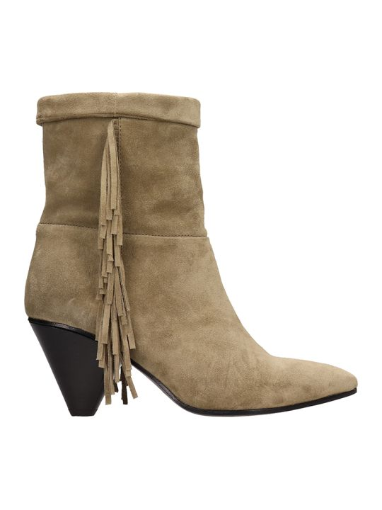 Janet & Janet Khaky Suede Leather Ankle Boots