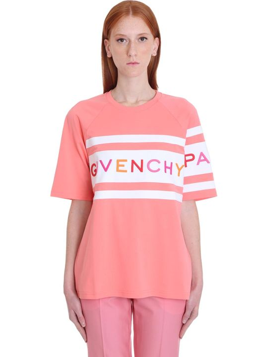 Givenchy T-shirt In Rose-pink Cotton