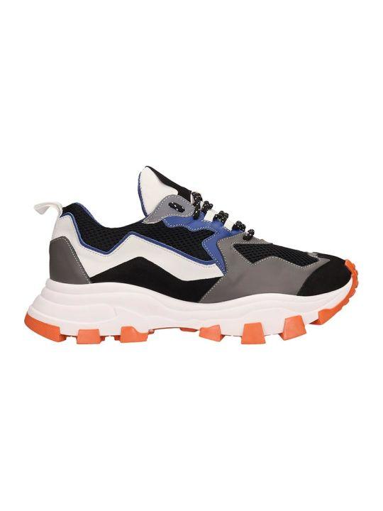 Cinzia Araia Black Leather And Suede Running Sneakers