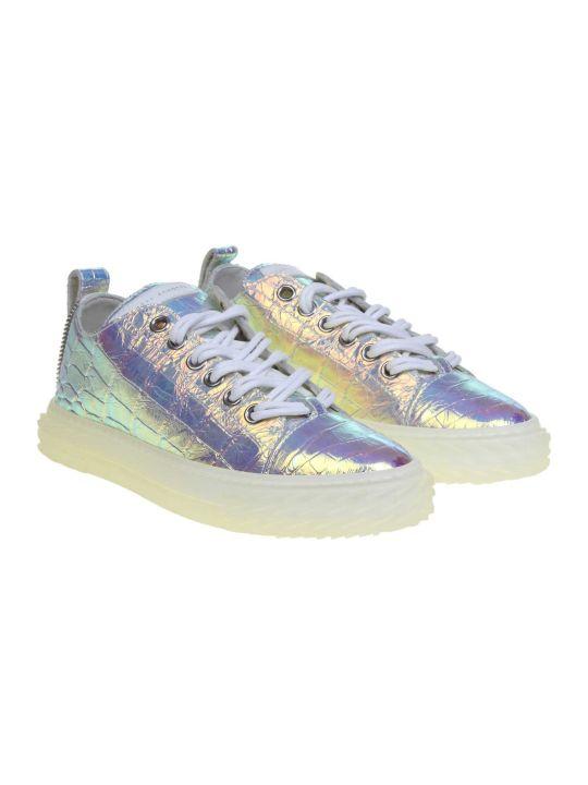 Giuseppe Zanotti Sneakers Blabber Jellyfish In Iridescent Leather