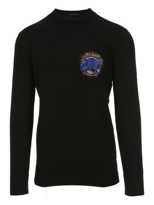 Balmain Logo Patch Sweater