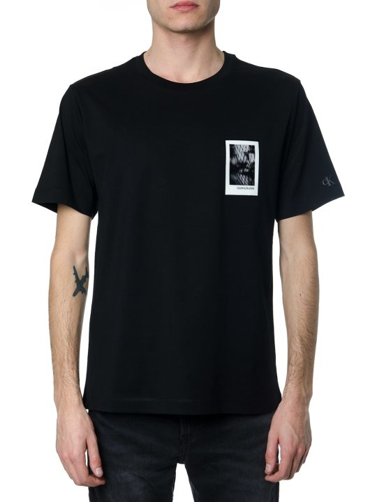 Calvin Klein Graphic Print Black Cotton T-shirt