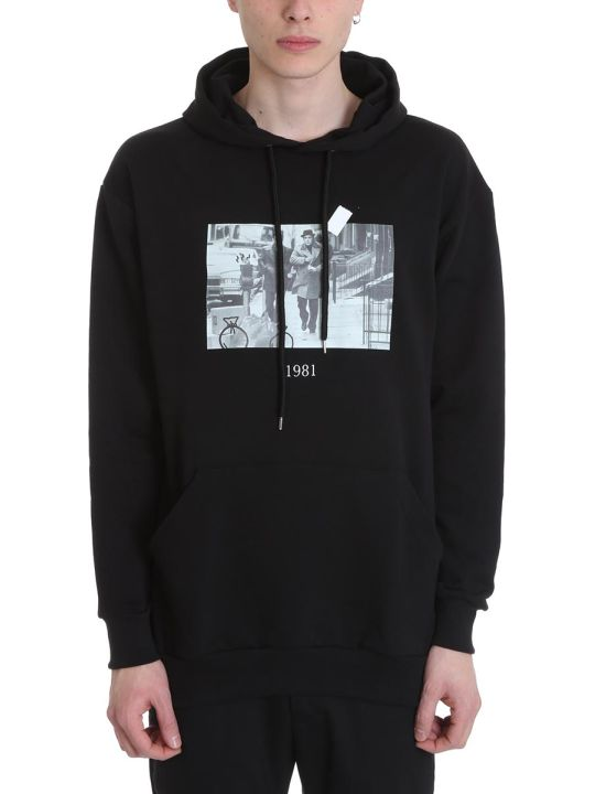 Throw Back Donnie Black Cotton Hoodie