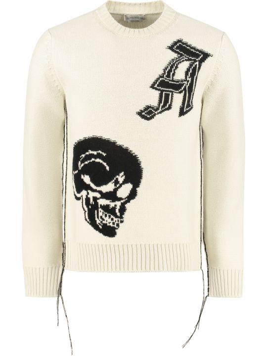 Alexander McQueen Intarsia Crew-neck Sweater