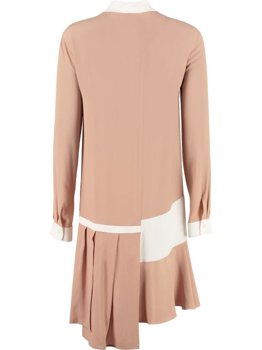 N.21 Scarf Collar Silk Shirtdress