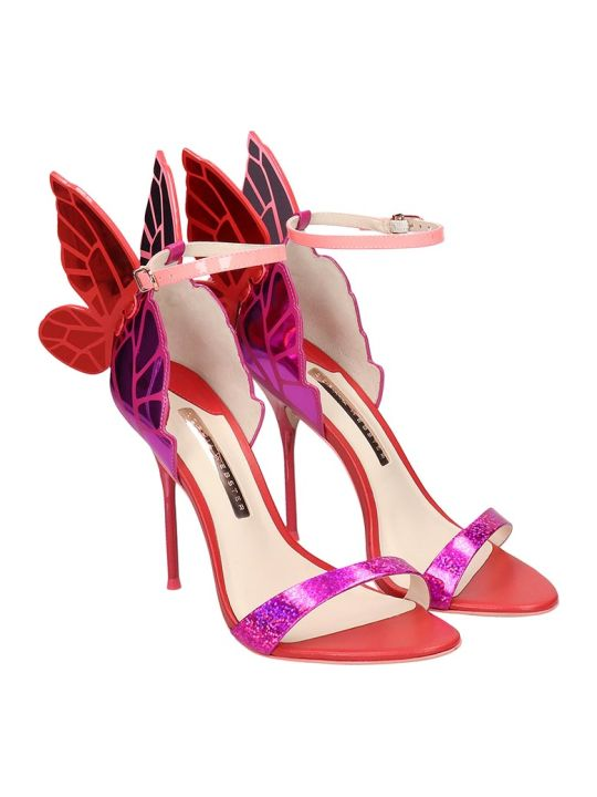 Sophia Webster Chiara  Sandals In Fuxia Leather