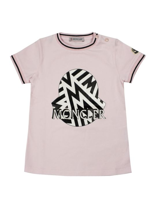 Moncler Light Pink Cotton T-shirt