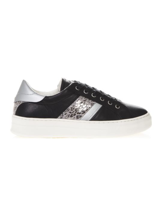 Crime london Sonik Black Leather Low-top Sneakers