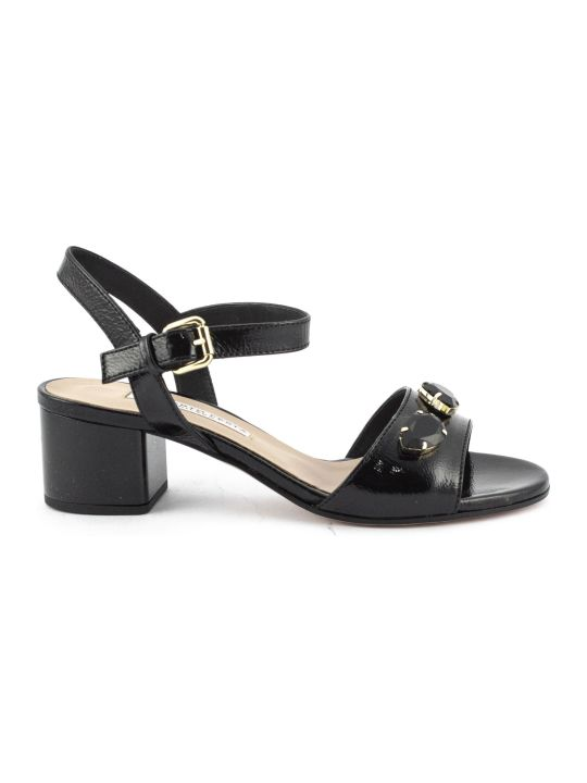 Roberto Festa Ciclamino Sandal In Black Leather