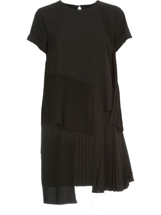 N.21 Pleated Dress Mini S/s W/flounce