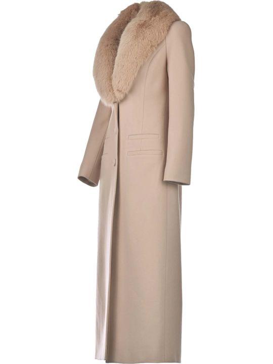 Blumarine Blumarine Wool Overcoat With Fox