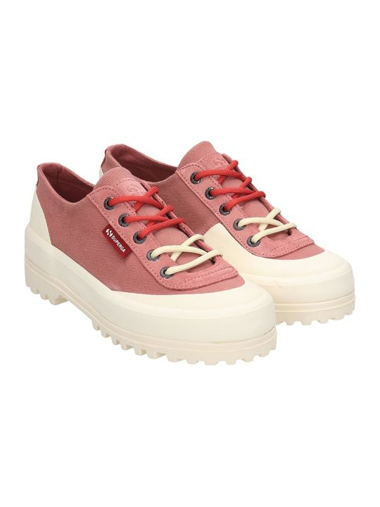 Superga Alpina Low  Sneakers In Rose-pink Canvas