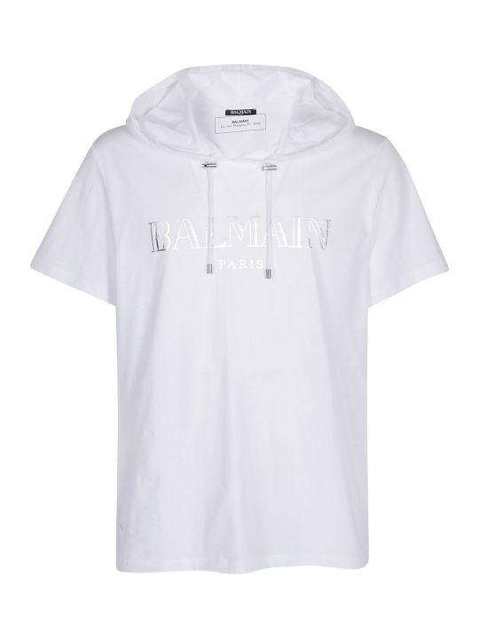 Balmain T-shirt With Hood