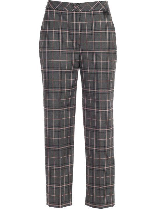 Be Blumarine Pants Skinny Checked W/zip
