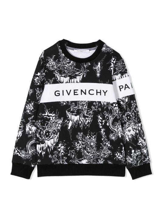 Givenchy Black And White Cotton Sweatshirt