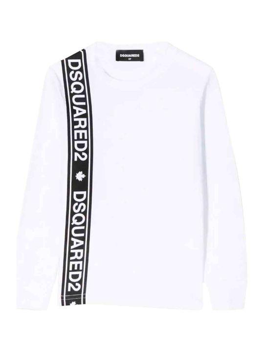 Dsquared2 White T-shirt Teen