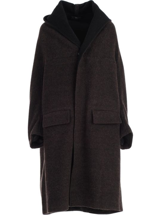 Y's Coat Single Breasted W/hood