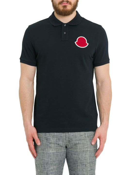 Moncler Polo Shirt+ With Big Logo Patch On Chest