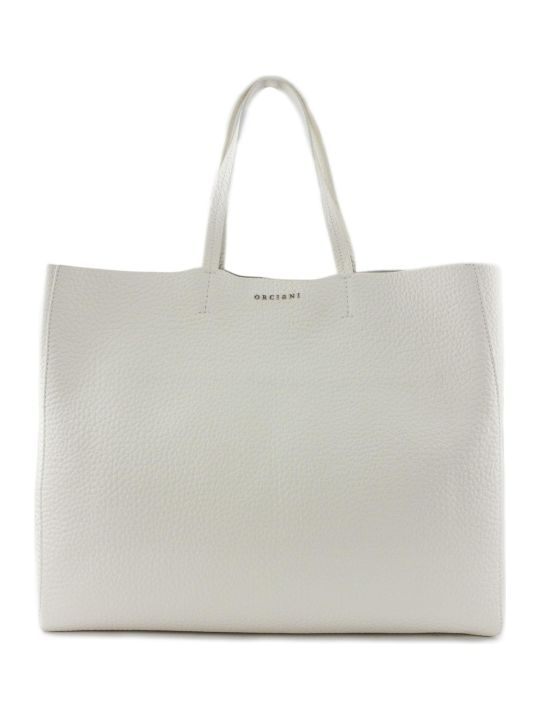 Orciani Le Sac Soft White Tote Bag