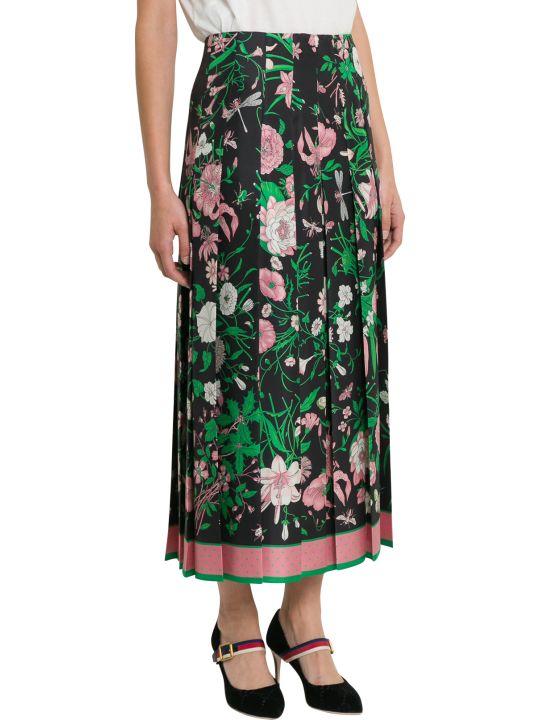 Gucci Flora Midi Skirt