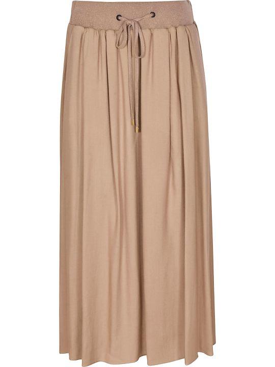 Peserico Pleated Long Skirt