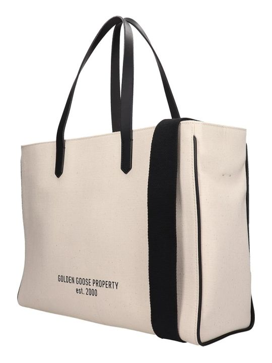 Golden Goose California Tote In White Fabric