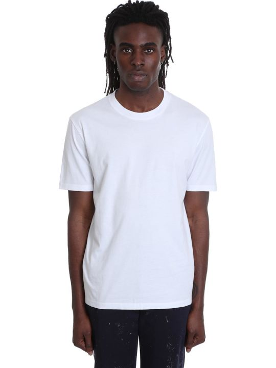 Maison Margiela T-shirt In White Cotton And Nylon