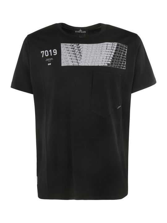 Stone Island Shadow Project Geometric Print T-shirt