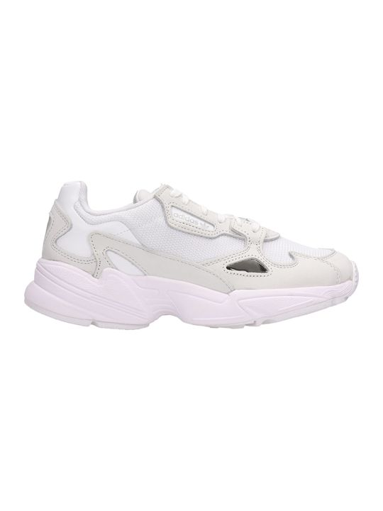 Adidas Falcon W White Fabric Sneakers