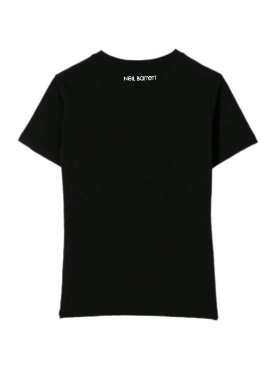 Neil Barrett Black Cotton T-shirt