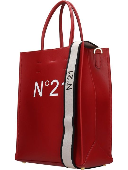 N.21 Tote In Red Leather