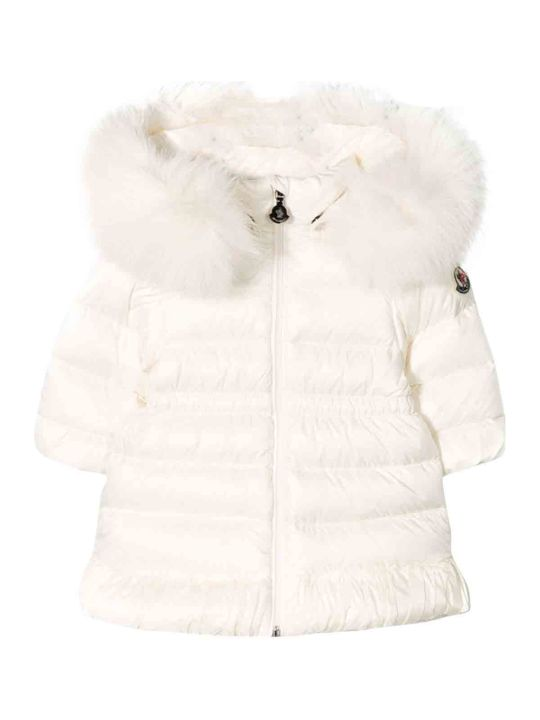 Moncler Newborn White Down Jacket
