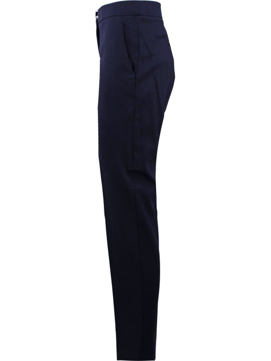 Fay Blue Mid-rise Tapered-leg Trousers