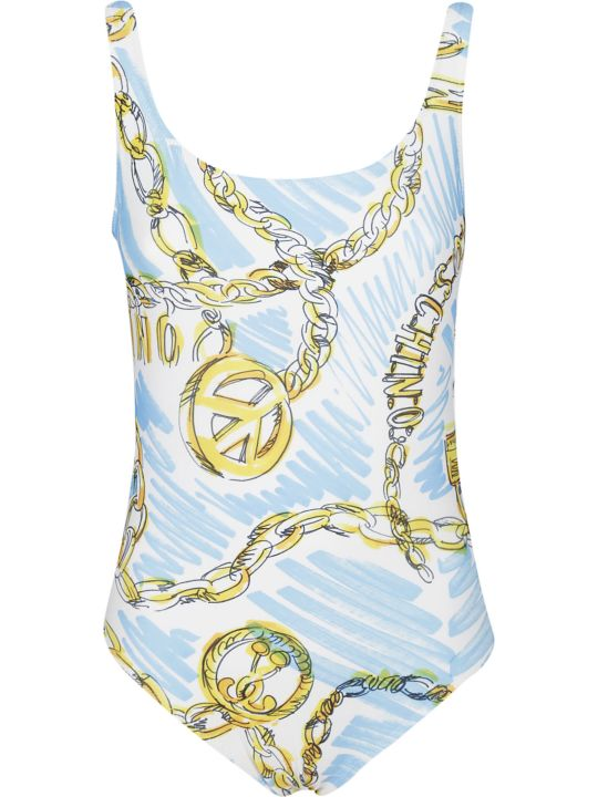 Moschino Sketch Chain-print Swimsuit